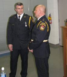 (Lt. to Rt.; Inspector Dave Wiedrick, i/c Operations & Auxiliary Inspector Lance Crump)