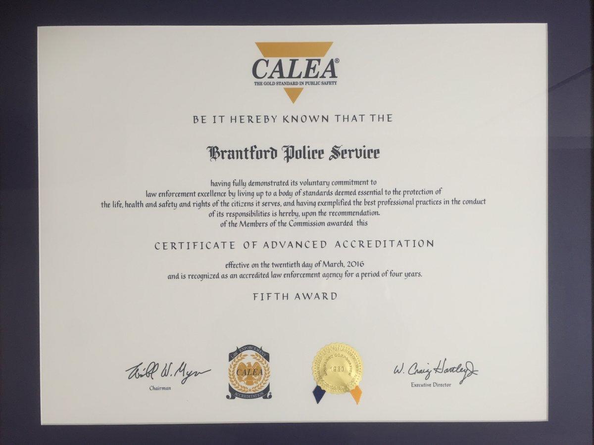 CALEA Certificate