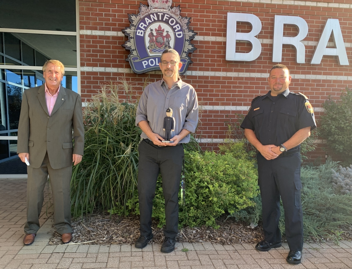 Photo Donation of Art to Police Services Board